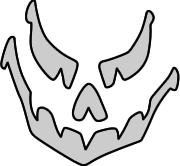 Scary Jack-o-Lantern Face Template
