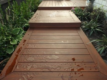 wooden deck pathway with steps
