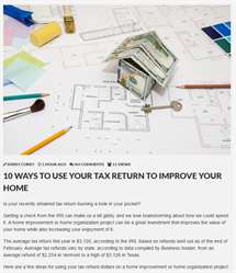 10 ways to use your tax return to improve your home icon